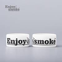 Декоративное силиконовое кольцо Vape Band - Enjoy Smoke (белое)
