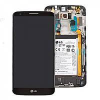 Дисплей (экран) LG D802 G2 / D805 с сенсором (тачскрином) и рамкой черный