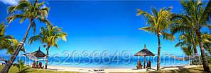 Скинали Вид на море Пляж Пальмы - стекло с фотопечатью