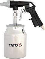 Yato пистолет для пескоструйной обработки бак нижний 2376
