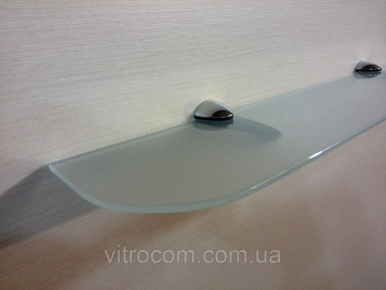 Полка стеклянная прямая 6 мм матовая 60 х 12 см