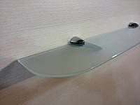 Полка стеклянная прямая 6 мм матовая 60 х 12 см, фото 1