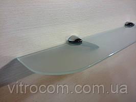 Полиця скляна пряма 4 мм біла матова 45 х 10 см