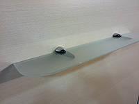 Полка стеклянная прямая 5 мм белая матовая 50 х 10 см, фото 1
