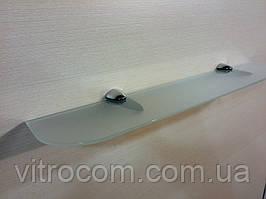 Полиця скляна пряма 4 мм біла матова 50 х 10 см