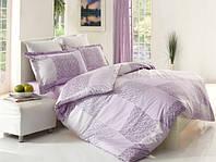 Комплект постельного белья сатин размер евро Altinbasak Moda lila