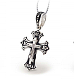 Серебряный Крестик с эмалью и распятием 30683, фото 3