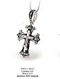 Серебряный Крестик с эмалью и распятием 30683, фото 4