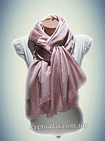Шелковый палантин лучистый, розовый  принт 2016 Турция