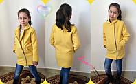 Модное детское кашемировое пальто на молнии, фото 1