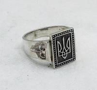 Кольцо с Гербом Украины серебряное 925 пробы