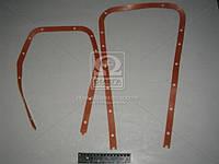 Прокладка картера масляного КАМАЗ ЕВРО (поддона резина-пробка, красный) (производитель Россия) 7405.1009040