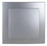 Выключатель кнопка Nilson Touran серебро (24131005)