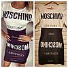 Платье женское короткое повседневное с принтом MOSCHINO P1238