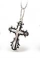 Серебряный Крестик с эмалью и распятием - Крестик с эмалью серебро , фото 4