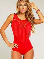 Сексуальное карнавальное боди белье в красном цвете, фото 1