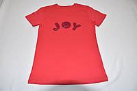 Коралловая футболка с пайетками JOY