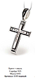 Серебряный Крестик с эмалью и распятием 19981, фото 2