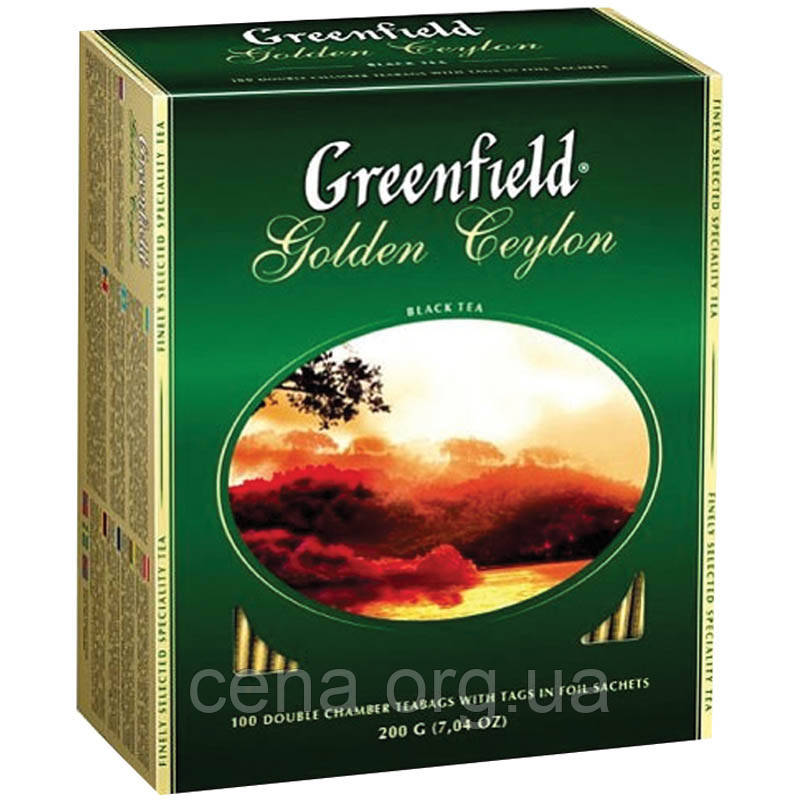 "Чай ""Greenfield"" Golden Ceylon 100 пакетиков"
