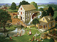 Пазл Cabble Hill - Водная мельница (Four Star Mill)