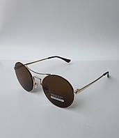 Женские солнцезащитные очки Furlux круглые коричневые