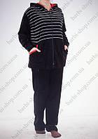 Женский спортивный костюм батального размера серый