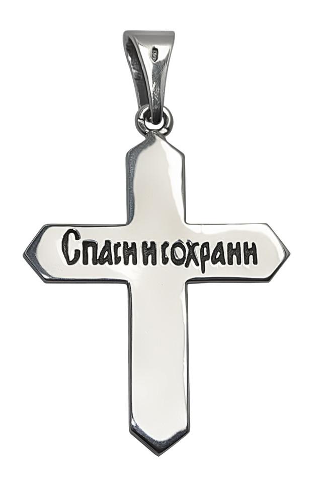 Серебряный крестик с золотом картинка