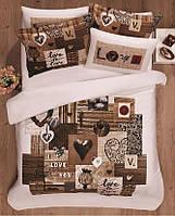 Комплект постельного белья  le vele сатин размер евро love