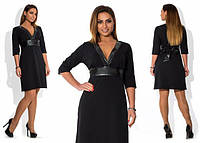 Платье женское короткое повседневное с отделкой на груди P1254, фото 1