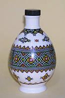 "Писанка ""Вышиванка"", штоф (графин), фарфор, 250 мл, украинский сувенир"