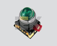 Лампа AL-22 сигнальная d22мм зеленый неон/240В цилиндр ИЭК