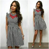 Платье женское короткое трикотажное без рукавов P1258