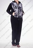 Женский батальный спортивный костюм  серый