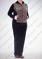 Женский спортивный костюм темно - коричневый