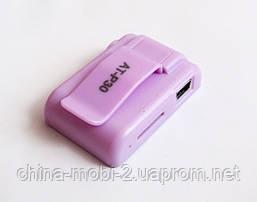 Зеркальный MP3- плеер Atlanfa AT-P30 с прищепкой, pink, фото 2