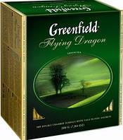 """Чай """"Greenfield"""" зеленый дракон 100 пакетиков"""