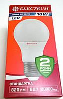 Светодиодная LED лампа 10W E27 4000K