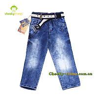 Модные голубые джинсы на мальчика