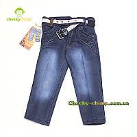 Удобные синие джинсы на мальчика