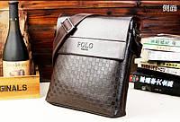 Мужская сумка Polo глянцевая (Реплика)