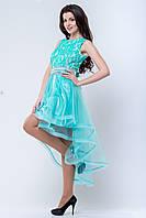 Нарядное платье с ассиметричной юбкой