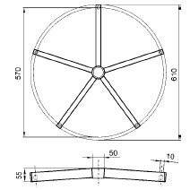 Крестовина металлическая Логика, фото 2