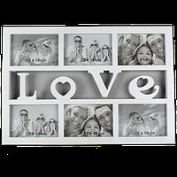 Мультирамка А15-1 на 6 фото Love