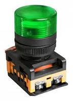 Лампа AL-22TE сигнальная d22мм зеленый неон/240В цилиндр ИЭК