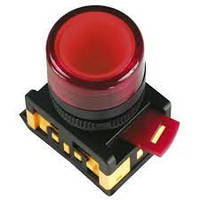 Лампа AL-22TE сигнальная d22мм красный неон/240В цилиндр ИЭК