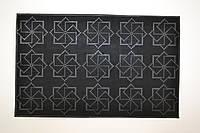Коврик придверный К-16 Звёзды резиновый 36,5х58 см, фото 1