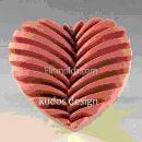 Силиконовая форма Сердце ребристое