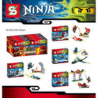 Конструктор Ninja/ Ниндзя ниндзяго, ниндзя, Кай, Ния, Джей