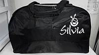 Сумка черная Silvia c вертикальным карманом