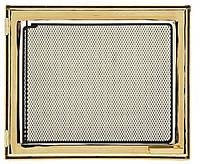 9016U дверца каминная со стеклом позолота (445x380)